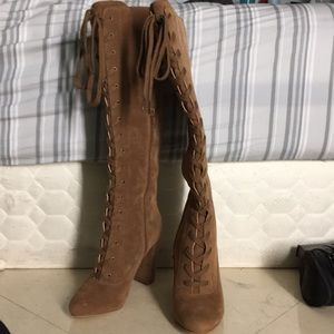 Cute Knee High Lace Up Boots